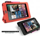 PU Leather Case Cover Replcacement For Google Nexus 7 Asus Tablet Folio Kick Stand Magnetic