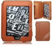 PU Leather Book Style Case Magnetic Clasp For Amazon Kindle Touch Kindle Paperwhite