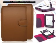 PU Leather Book Style Case Cover For Amazon Kindle 4/5