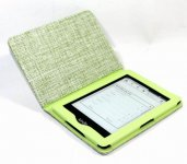 Green Leather Pastoral style Case Cover For Amazon Kindle 4/5 kindle Paperwhite