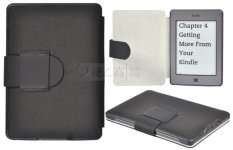 Ultra-thin PU Leather Book style Case Cover For Amazon Kindle Touch Kindle 4/5