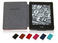 PU Leather Book Style Case Cover Magnetic Smart For Amazon kindle paperwhite