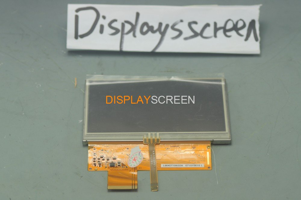 New LQ043T1DG03 Complete LCD Screen Display with Touch Screen Digitizer Replacement for Garmin Nuvi 650 660