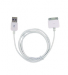 White USB Charger Cable Data Sync 40 inches For iPhone iPod Nano Touch