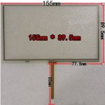 New 6.5 inch Touch Screen 155*90mm Universal Touch Screen for GPS Navigation Car DVD