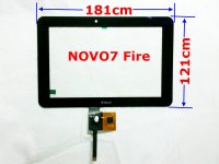original Ainol Novo7 7'' Novo 7 Fire Flame LCD touch screen digitizer panel